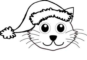 HD wallpapers coloring page of a santa hat