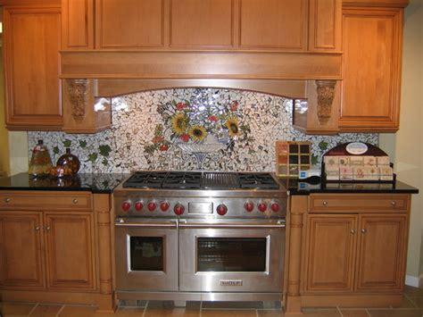 painted tiles for kitchen backsplash custom painted mosaic backsplash traditional