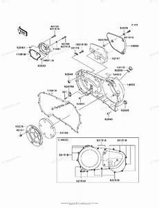 Kawasaki Motorcycle 2003 Oem Parts Diagram For Right