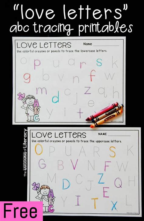 valentines day alphabet tracing printables  printing