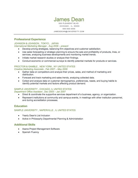 resume  fresh graduate human resource sample resume