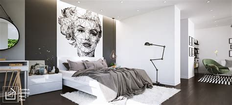 Black And White Bedroom Wall Design by Fascinating Bedroom Design Ideas Using White And Black