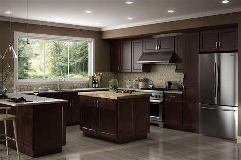 wood rta  luxor espresso shaker kitchen cabinets