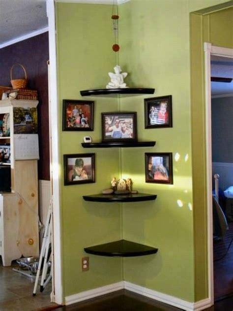 decorating small corner space creative wall corner shelves