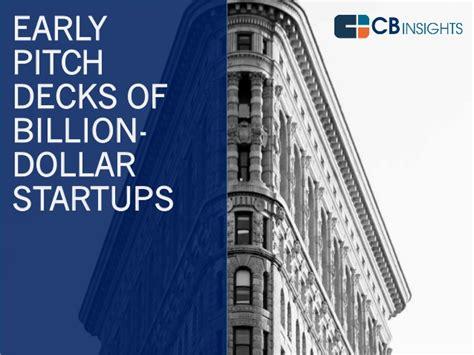 best tech startup pitch decks the early pitch decks of billion dollar startups