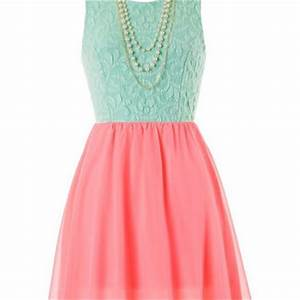 Pearls and Lace Dress Neon Pink and from Blue Chic Boutique