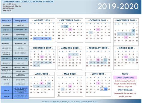 division calendar lloydminster catholic school division