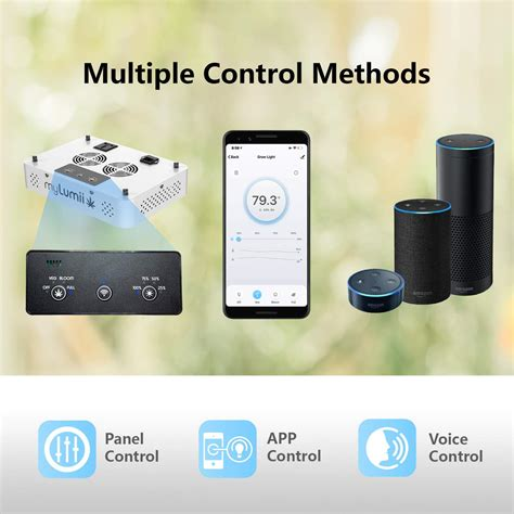 smart grow led wifi spectrum dimmable 1200w timer remote indoor plant app fcc alexa humidity daisy certified temperature sensor compatible