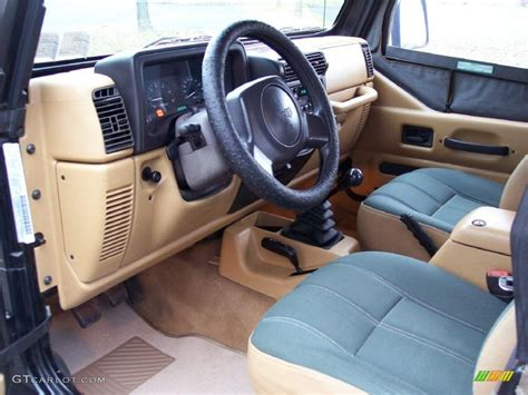 interior jeep wrangler green khaki interior 1998 jeep wrangler sahara 4x4 photo