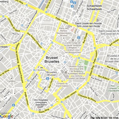 map  brussels belgium hotels accommodation