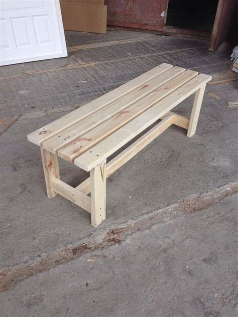 easy diy wood garden bench designs   http