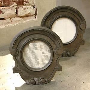 Oeil De Boeuf Bois : cadre porte photos forme oeil de boeuf en bois peint chehoma home decor frame mirror home ~ Nature-et-papiers.com Idées de Décoration