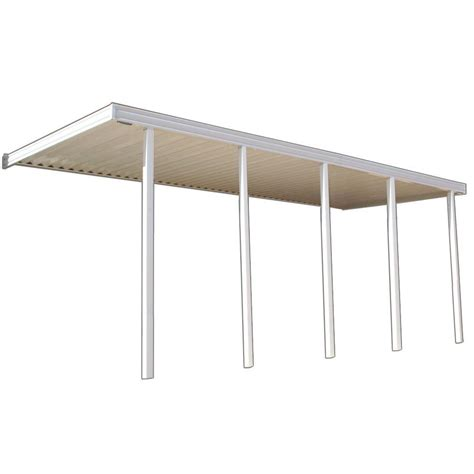 four seasons building products 22 ft x 10 ft ivory