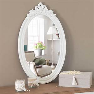 La Maison Du Blanc : miroir blanc h 65 cm romane maisons du monde ~ Zukunftsfamilie.com Idées de Décoration