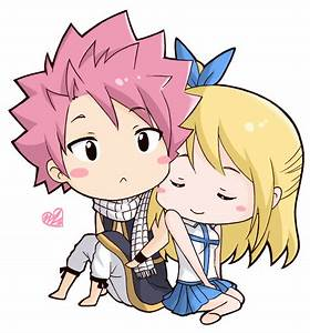 Natsu and Lucy chibi (commission) by torakun14 on DeviantArt