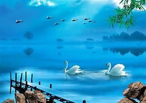 4-Designer Swan Lake PSD material