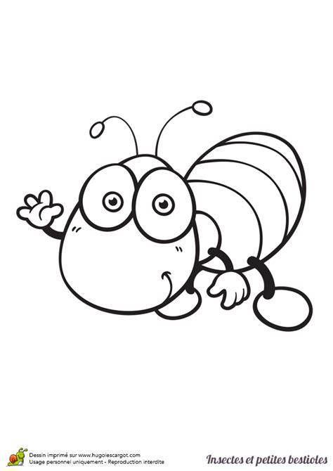 cuisine rapide et facile dessin à colorier insecte et bestiole un ver