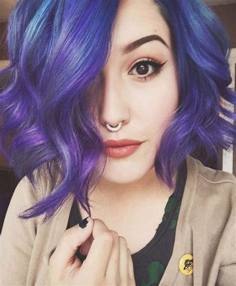 Best 25 Short Blue Hair Ideas On Pinterest Blue Bob