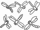 Dragonfly Coloring Pages Dragonflies Cartoon Printable Simple Drawing Dragon Cute Flies Clipart Colouring Clip Fly Realistic Cliparts Drawings Insect Pattern sketch template