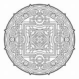 Coloring Pages Geometric Geometry Sacred Mandala Cool Beaver Fractal Therapy Dam Complex Colouring Adult Para Mandalas Books Colorear Printable Sheets sketch template