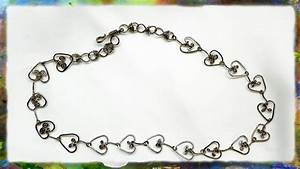 How To Make A Beautiful Silver Wire Heart Link Jewelry