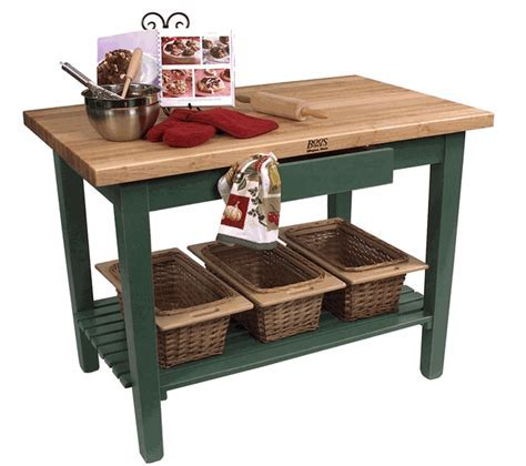"""John Boos Classic Country Work Table Kitchen Island 60"""" x"""