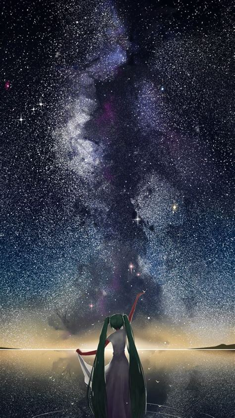 Black Wallpaper Iphone Anime by Starry Sky Vocaloid Anime Iphone Wallpapers Mobile9