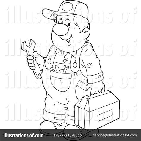 mechanic clipart black and white mechanic clipart 1211367 illustration by alex bannykh
