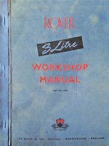 Rover 3 Litre Workshop Manual 2nd Edition  U2013 Roverp5 Com