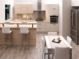 cuisine salle a manger 4 cuisines aviva cuisine With idee deco cuisine avec chaise salle a manger couleur taupe