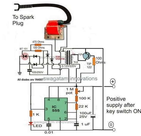 electronic  dc capacitive discharge ignition cdi