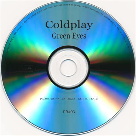 Coldplay Green Eyes 2003 Cdr Discogs