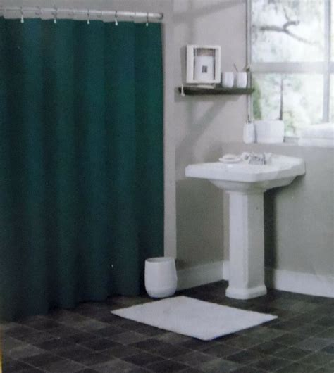 plastic shower solid green bathroom vinyl plastic shower curtain