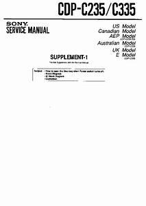 Sony Cdp-c235  Cdp-c245  Cdp-c335  Cdp-c345  Cdp-c741 Service Manual