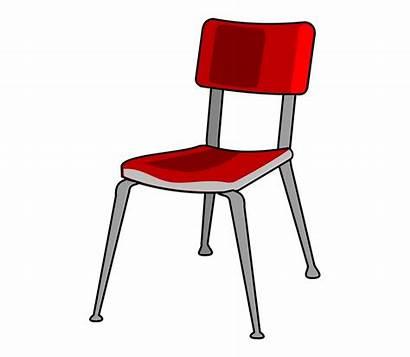 Chair Cartoon Clipart Clip Desk Transparent Student