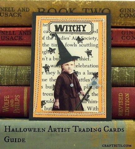 halloween artist trading cards guide craftbitscom
