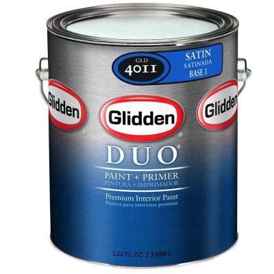 glidden 1 gal base 3 satin interior paint and primer