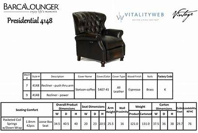 Barcalounger Presidential Recliner Ii Chair Leather Dimensions