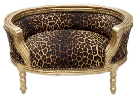 chambre leopard casa padrino baroques cats dogs canapé leopard or