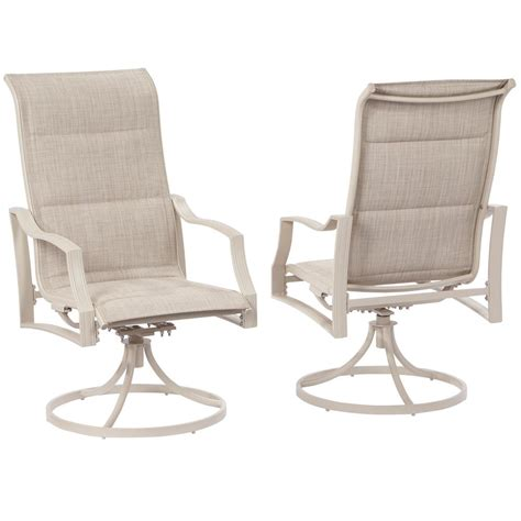 c patio chairs hton bay statesville shell swivel aluminum sling