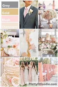 Wedding Colors of Grey, Gold, Blush, and Champagne | POST ...
