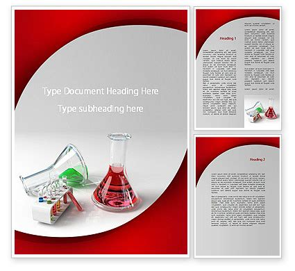 chemical lab equipment word template
