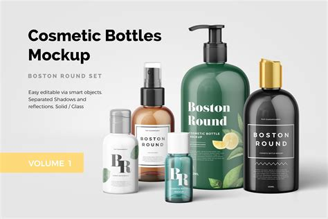 Clean and sharp packaging mockups i want to know more even 3$ for a single mockup! Cosmetic Bottles Mockup Vol.1 ~ Product Mockups ~ Creative ...