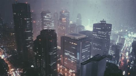 city rain skyscraper wallpapers hd desktop  mobile