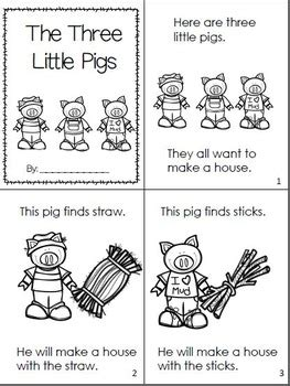 The Three Little Pigs Emergent Readers by Mrs Thompson's