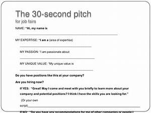 30 second pitch for job fairs for 30 second pitch template