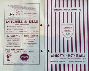 Arbroath Football Club » Programme Memories