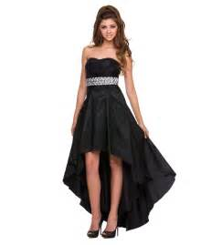 black high low prom dress