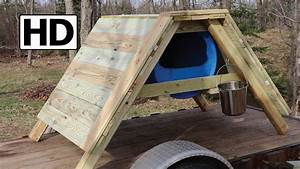 how to build an a frame sled dog house detailed With how to build a dog house youtube