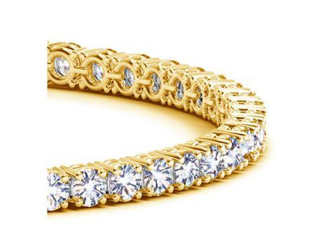 diamond tennis bracelet   yellow gold  cttw